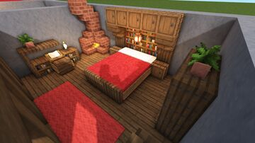 5 Medieval Bedroom designs Minecraft Map & Project
