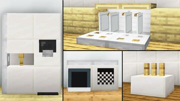 10 Easy Kitchen Furniture Ideas! Minecraft Map & Project