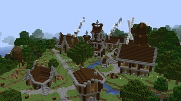 Mittelalterliches Dorf | Medieval village Minecraft Map & Project
