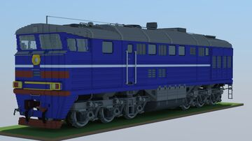 Soviet locomotives TE-series and TEM18DM Minecraft Map & Project