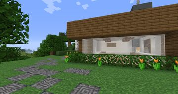 little modern cliff house Minecraft Map & Project