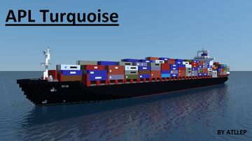 APL Turquoise - container ship [full interior] Minecraft Map & Project