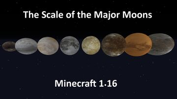 1.16 The Scale of the Major Moons in Minecraft Minecraft Map & Project
