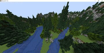 mountain island - survival island xtra ores Minecraft Map & Project