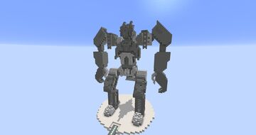 Constructicons Statues - Transformers Revenge of the Fallen - Minecraft Map & Project
