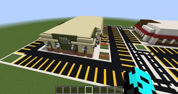 Part 3: Huge Buildings of Panera Bread, Chipotle Minecraft Map & Project