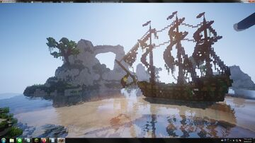 幽靈船.海島. / Ghost ship. Island. Minecraft Map & Project