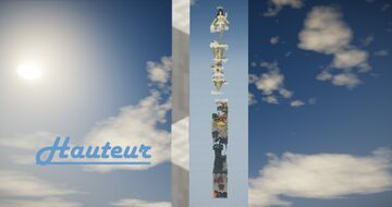"""""""Hauteur"""" - One Chunk Minecraft Map & Project"""
