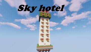Sky hotel---One Chunk Challenge contest entery Minecraft Map & Project