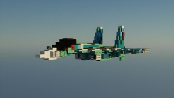 Sukhoi Su27 1.5:1 scale Minecraft Map & Project
