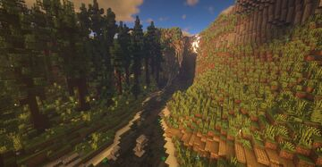 Waterfall and the Pine Forest! Minecraft Map & Project