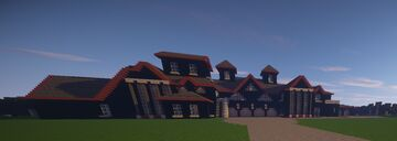 Black Concrete Suburban Mansion Minecraft Map & Project