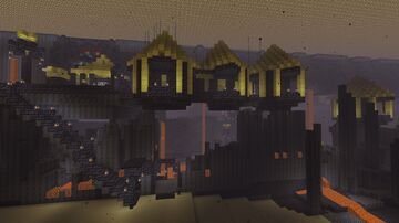 The Golden Piglin Village (Nether Minecraft Build Contest Entry) Minecraft Map & Project