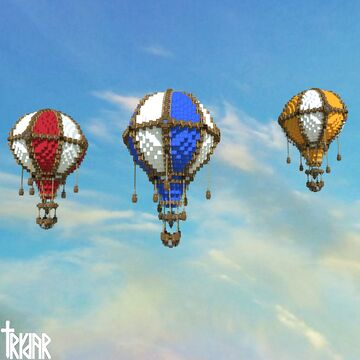 Hot Air Balloon +tutorial Minecraft Map & Project
