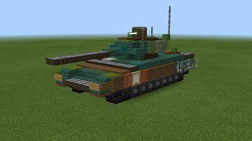 1.5:1 scale T-14 Armata Minecraft Map & Project