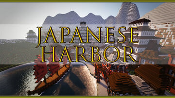 Ancient Japanese Harbor City Minecraft Map & Project