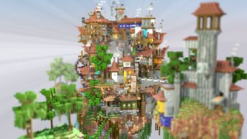 Steampunk Floating Island Minecraft Map & Project
