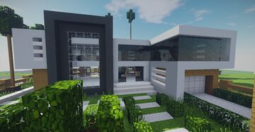 Modern House #18 + Schematics Minecraft Map & Project