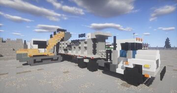 1.75:1 Scale  Mack DM Truck & Trailer. with a LIEBHERR LR636 Track loader Minecraft Map & Project