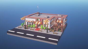 1.16 Restaurant - Pizzeria Minecraft Map & Project