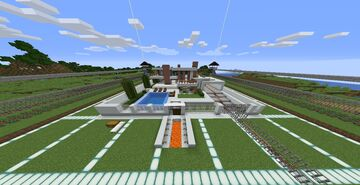 Massive house with railway system and many more unique things awaiting you to download this map Minecraft Map & Project