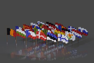 Flags of European Union | Schematics Minecraft Map & Project