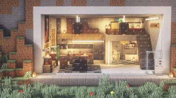 Minecraft : Cliff Modern House Tutorial |How to Build in Minecraft Minecraft Map & Project