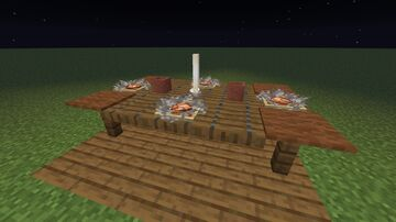 5 chair and Table building Hacks with build instructions Minecraft Map & Project