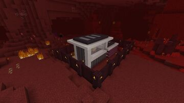 Self building command block-animated nether house Minecraft Map & Project