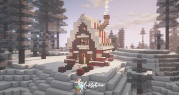 Winter Gingerbread Cottage 🍪🥛 Minecraft Map & Project