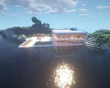 MODERN MANSION FOR MINECRAFT 1.15.2 Minecraft Map & Project