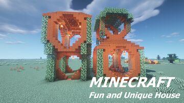 Unique en Fun house to build Minecraft Map & Project