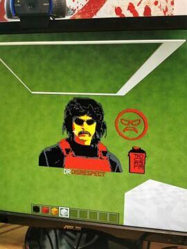 DR Disrespect big Pixel art Minecraft Map & Project