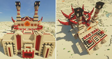 The Burning Desert - The Glass Foundry Minecraft Map & Project