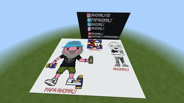 Minecraft Pixel art to famous youtuber/Twitch streamer Anomaly and Papa Anomaly Minecraft Map & Project
