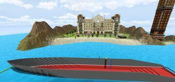 Super Yacht Aqua Vita Minecraft Map & Project