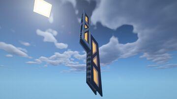 Simple Sci-Fi Skyscraper Minecraft Map & Project