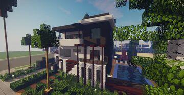 Modern House #10 + Schematics Minecraft Map & Project