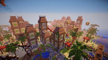 Jungle Theme Hub Lobby | Build By Morwyian Minecraft Map & Project