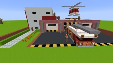 The Fire Station Minecraft Map & Project