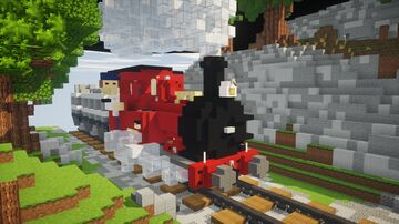 Dolgoch Steam Locomotive 4:1 Scale Minecraft Map & Project