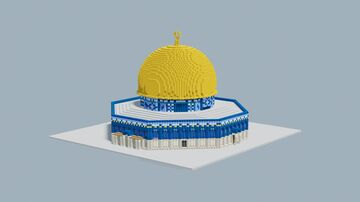 Qubbat as-sahra/Dome of the Rock,  Jerusalem, 1.5:1 Minecraft Map & Project