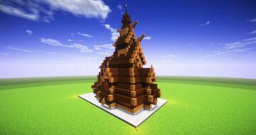 Borgund Stave Church (2:1 Scale) Minecraft Map & Project