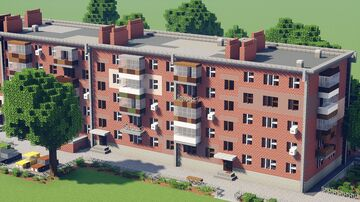 Soviet Communal Apartment Building [Full Interior] - Taganrog, Russia Minecraft Map & Project
