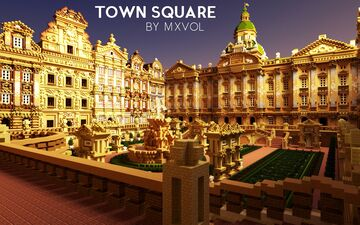 Classical Town Square Minecraft Map & Project