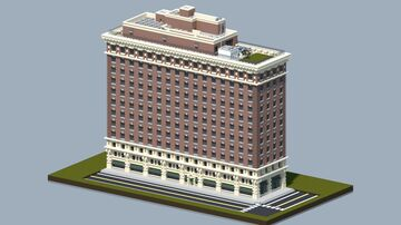 Brick apartment building [With full interior, and download] Minecraft Map & Project