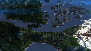 Light fantasy world - 5000x5000 Minecraft Map & Project