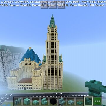 Woolworth building NY Minecraft Map & Project