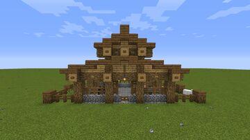 Simple Livestock Barn Minecraft Map & Project
