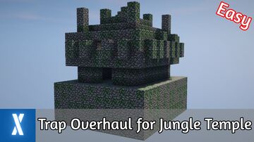 Redstone Trap Overhaul for the Jungle Temple Minecraft Map & Project